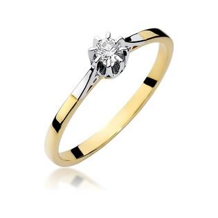 Pierścionek zaręczynowy Soliter nr BE W-209 złoto 585 Royal