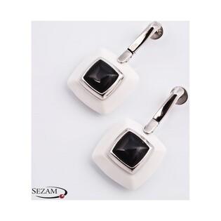 Kolczyki srebrne z mineralitem kolekcja Elite nr SA 2261