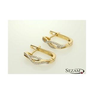 Kolczyki z diamentami kolekcja Mirage nr AW 47598 złoto 585