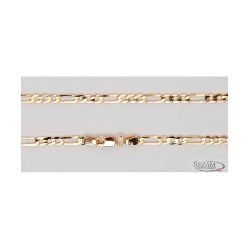 Bransoleta męska figaro ze złota 585 nr GALD 3+1 140