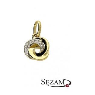 Zawieszka złota z diamentami nr BU 310319