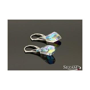 Kolczyki srebrne z kryształami Swarovski nr RD 2 R47-1