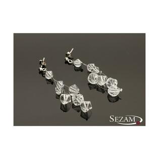 Kolczyki srebrne kolekcja Grace nr RD 543-1 crystal