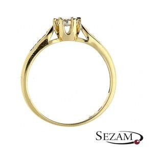 Pierścionek zaręczynowy z diamentami nr BE W-328 próba 585 Royal Magic bis