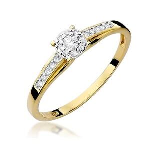 Pierścionek złoty z diamentem MIRAGE BE W-034 próba 585 Sezam - 1