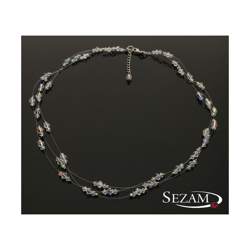 Naszyjnik srebrny z kolekcji Grace z kryształkami Swarovski nr RD 343-1