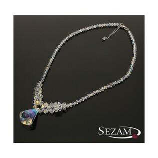 Naszyjnik srebrny z kryształami Swarovski nr RD 601-1