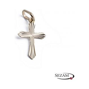Krzyżyk złoty grawerowany nr 32-30-26D 14 karat