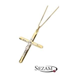 Krzyżyk złoty z Wizerunkiem Jezusa nr 178-CR30 próba 585