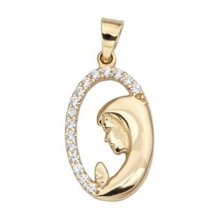 Medalik złoty z wizerunkiem Matki Boskiej Modlącej bokiem nr OS 96-9102 próba 585 Sezam - 1