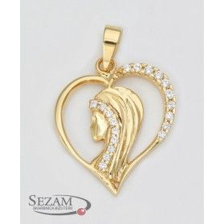 Medalik złoty z Matką Boską nr 18-2805 14 karat