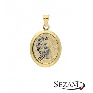 Medalik złoty z Matką Boską Fatimską nr OS 204-IP56-40 laser