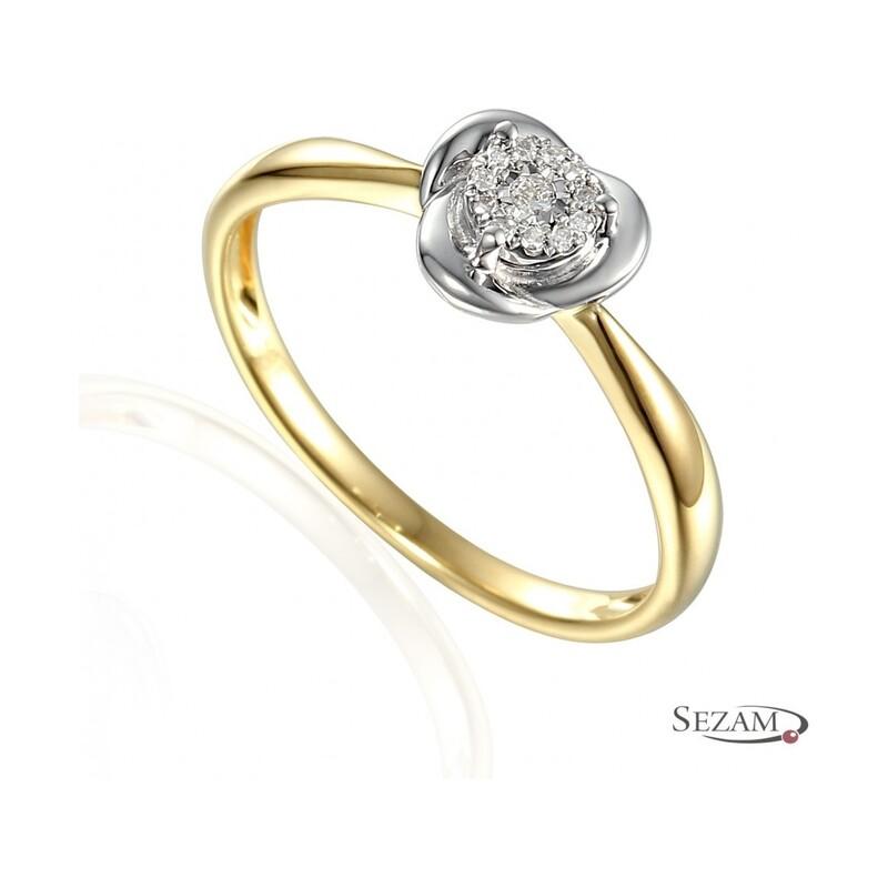 Pierścionek zaręczynowy z diamentami Paula Magic nr AW 55154 YW