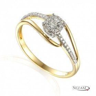 Pierścionek zaręczynowy Sweet bis twist nr AW 55229 YW z diamentami