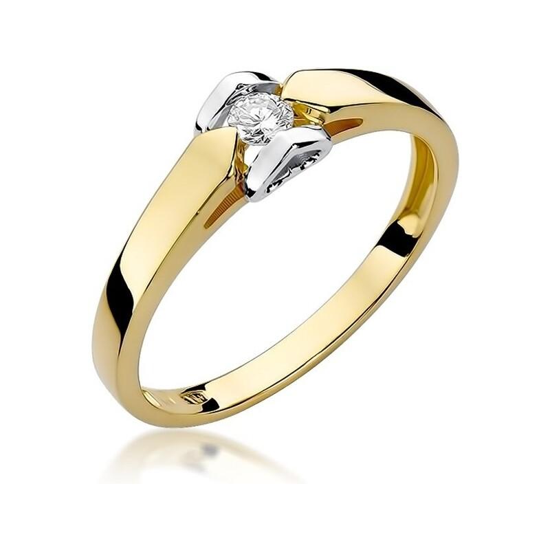 Pierścionek zaręczynowy z brylantem Amado nr BE W-320