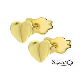Kolczyki złote serduszka nr AR 12062 próba 333