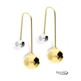 Kolczyki złote dwukolorowe przeciągane nr AR 207235-3 Au 333