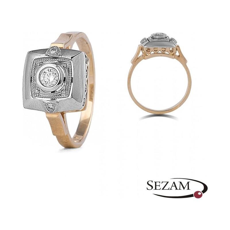 Pierścionek zaręczynowy z diamentami nr WK A-254