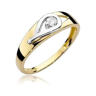 Zaręczynowy pierścionek z brylantem z białego złota nr BE W-253 BRAID