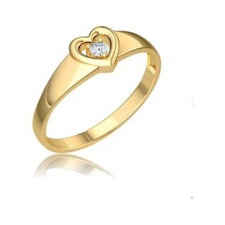 Pierścionek zaręczynowy z diamentem i sercem nr BE W-001 SERCE