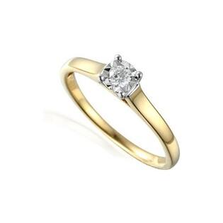 Pierścionek zaręczynowy z brylantem SOLITER Magic AW 55118 YW próba 585 Sezam - 1