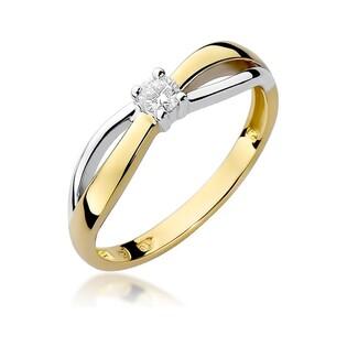 Pierścionek na zaręczyny z diamentem nr BE W-248 Soliter twist