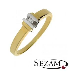 Pierścionek zaręczynowy z brylantem nr GP 0242 Eterno