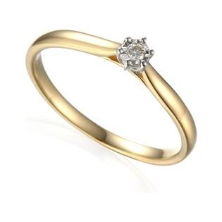 Złoty pierścionek z diamentem SOLITER Magic AW 61118 YW próba 585 Sezam - 1