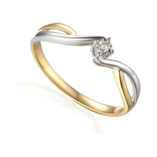Pierścionek z diamentem SOLITER Magic AW 61123 YW próba 585 Sezam - 2