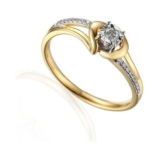 Pierścionek zaręczynowy z diamentami kolekcja Soliter nr AW 59029