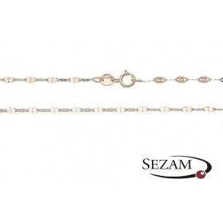 Łańcuszek złoty typu blaszka/koniczyna nr FL2K 020 próba 333