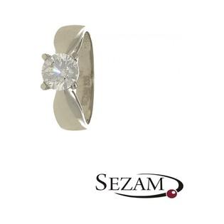 Pierścionek z białego złota nr MZ W-12-CZ