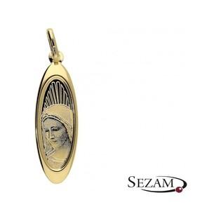 Medalik złoty z Matką Boską nr 204-IP94-40C laser