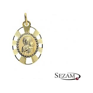 Medalik złoty z Matką Boską Częstochowską nr OP353