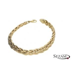 Bransoleta złota pleciona nr MZ HOB-20