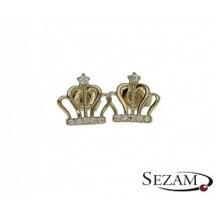 Kolczyki złote korony nr MZ EYV60-CZ