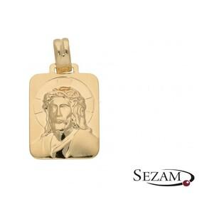 Medalik złoty typu blaszka nr KM194