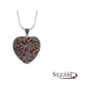Serduszko srebrne z markazytami nr BB MLZZ0001