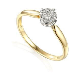 Pierścionek złoty zaręczynowy z diamentami SWEET AW 55157 YW próba 585 Sezam - 1