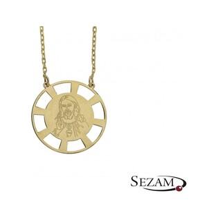Złoty naszyjnik z medalikiem nr MZ L82