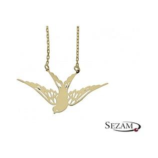 Złoty naszyjnik z jaksółką nr MZ L41