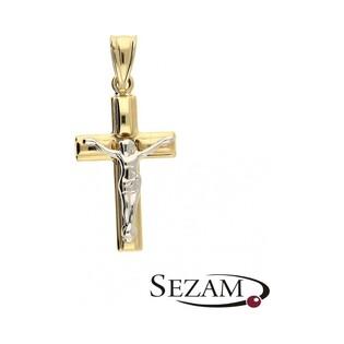 Krzyżyk złoty z wizerunkiem nr CA SZ-030 próba 333