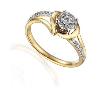 Pierścionek złoty z diamentami Sweet nr AW 59030