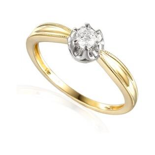 Pierścionek zaręczynowy z diamentem FLOWER AW 38515 YW próba 585 Sezam - 1