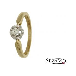 Pierścionek zaręczynowy złoty nr KU 3640 Au 585 Flower