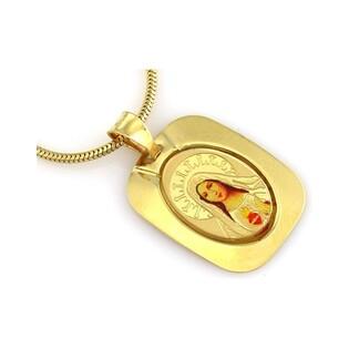 Medalik złoty nr CI 2911 emalia próby 585