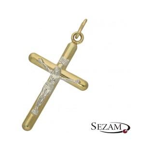 Krzyżyk męski złoty numer OP246