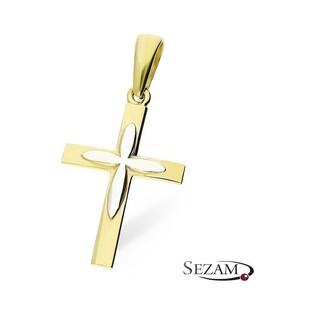 Krzyżyk złoty numer P18-YW próba 333