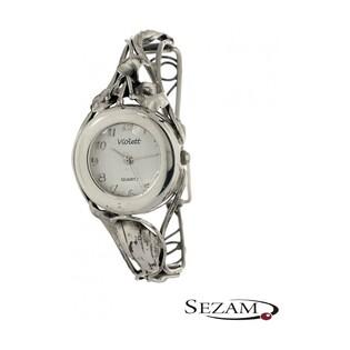 Zegarek srebrny damski VIOLETT numer KO 03-37 okrągły secesja b