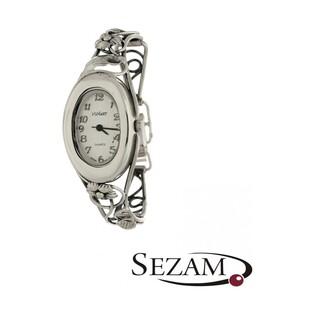 Zegarek srebrny damski VIOLETT numer KO 03-26 owal secesja a